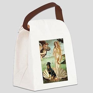 Venus & Rottweiler Canvas Lunch Bag