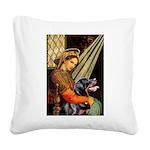 Madonna/Rottweiler Square Canvas Pillow