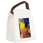 Cafe & Rottweiler Canvas Lunch Bag