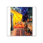 Cafe & Rottweiler Square Sticker 3