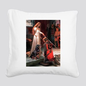 Accolade / Rottweiler Square Canvas Pillow