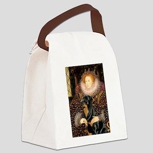 Queen & Rottie Canvas Lunch Bag