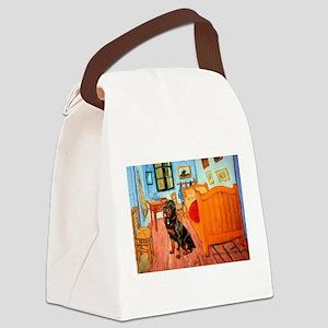 Room / Rottweiler Canvas Lunch Bag