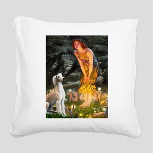 Midsummer's Eve & Saluki Square Canvas Pillow