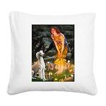 Midsummer's Eve & Saluki Square Canvas Pillow