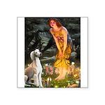 Midsummer's Eve & Saluki Square Sticker 3