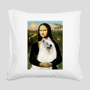 Mona / Samoyed Square Canvas Pillow