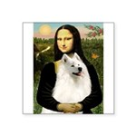 Mona / Samoyed Square Sticker 3