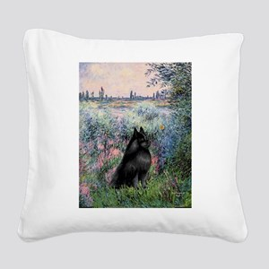 Seine / Schipperke Square Canvas Pillow