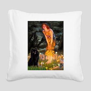 Fairies & Schipperke Square Canvas Pillow