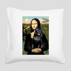 Mona's Schipperke (#5) Square Canvas Pillow