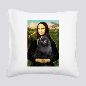 Mona / Schipperke Square Canvas Pillow