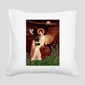 Angel (#1) & Schipperke Square Canvas Pillow