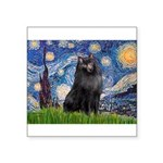 Starry / Schipperke #2 Square Sticker 3