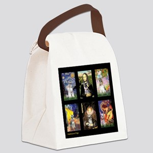 FamourArtSchnauzers 1 Canvas Lunch Bag