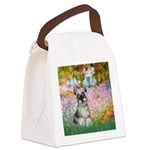 Garden / Miniature Schnauzer Canvas Lunch Bag