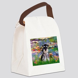 Lilies (#2)/Schnauzer Pup Canvas Lunch Bag