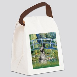 Bridge / Miniature Schnauzer Canvas Lunch Bag