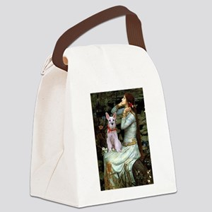 Ophelia's Schnauzer Canvas Lunch Bag
