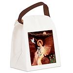 Angel / Min Schnauzer Canvas Lunch Bag