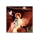 Angel / Min Schnauzer Square Sticker 3