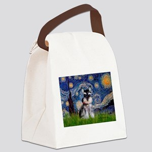 Starry / Schnauzer Canvas Lunch Bag
