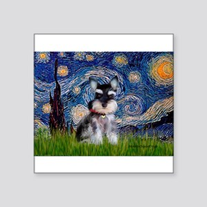 "Starry / Schnauzer Square Sticker 3"" x 3"""