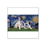 Starry Night / Min Schnauzer Square Sticker 3