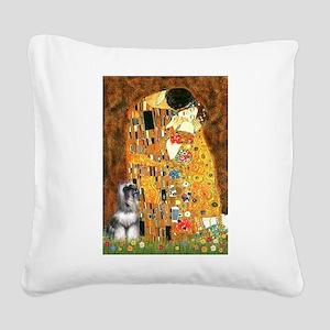 Kiss / Schnauzer (#7) Square Canvas Pillow