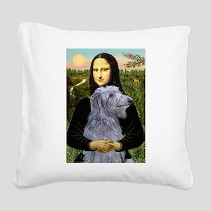 Mona /Scot Deerhound Square Canvas Pillow