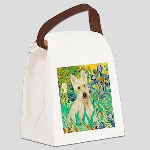 Irises / Scottie (w) Canvas Lunch Bag