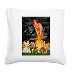 Midsummer / Scottie (w) Square Canvas Pillow