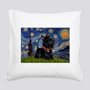 Starry / Scotty(bl) Square Canvas Pillow