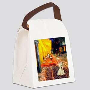Cafe / Scottie (w) Canvas Lunch Bag