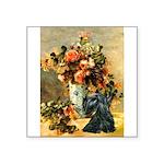 Vase / Scottie (blk) Square Sticker 3
