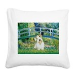 Bridge/Sealyham L2 Square Canvas Pillow
