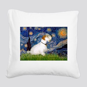 Starry Night/Sealyham L1 Square Canvas Pillow