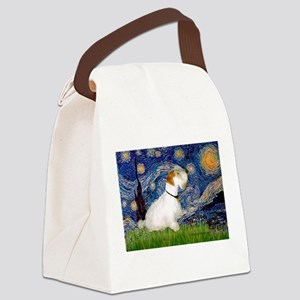 Starry Night/Sealyham L1 Canvas Lunch Bag