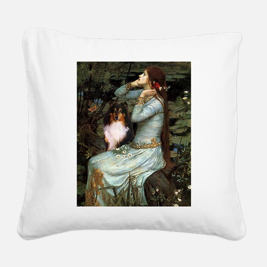 Ophelia / Shelie tri Square Canvas Pillow