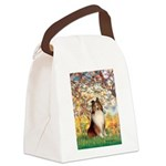 Spring / Sheltie (#1) Canvas Lunch Bag