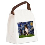 Starry Night / Sheltie (t) Canvas Lunch Bag