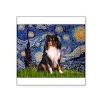Starry Night / Sheltie (t) Square Sticker 3