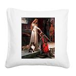 Accolade / Sheltie tri Square Canvas Pillow