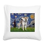 Starry - Shiba Inu (std) Square Canvas Pillow