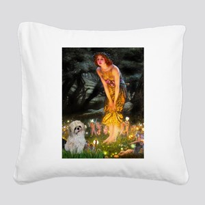 MidEve/Shih Tzu (P) Square Canvas Pillow