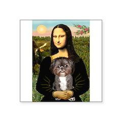 Mona / Shih Tzu(br&w) Square Sticker 3