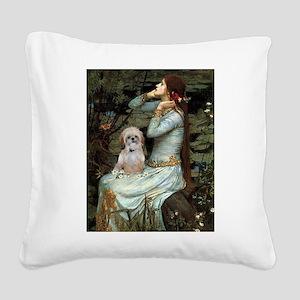 Ophelia/Shih Tzu (P) Square Canvas Pillow