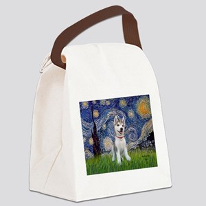 Starry-Siberian pup Canvas Lunch Bag