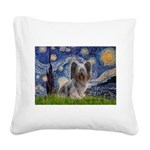Starry / Skye #2 Square Canvas Pillow