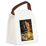 Fairies / Tibetan Spaniel Canvas Lunch Bag